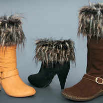 "Raccoon ""Faux Fur"" Boot Topper"