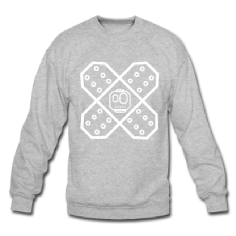 Bfs Charcoal Grey Light Grey Crewneck On Storenvy
