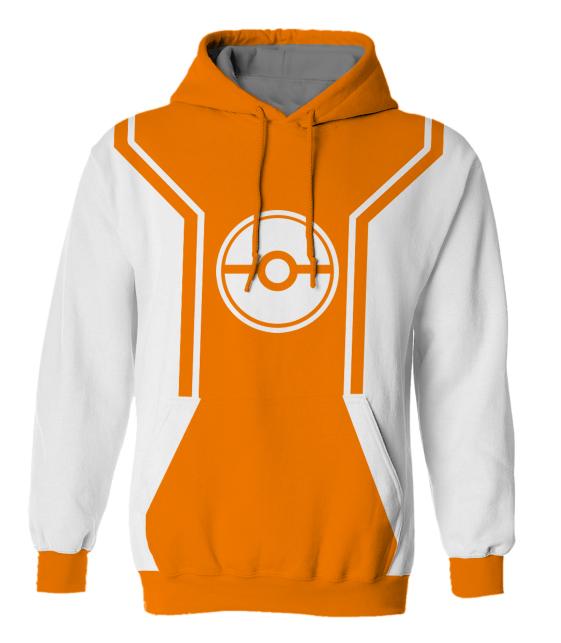 Mens Orange Hoodie - Baggage Clothing