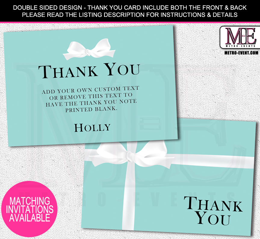 bridal shower thank you cards metro events