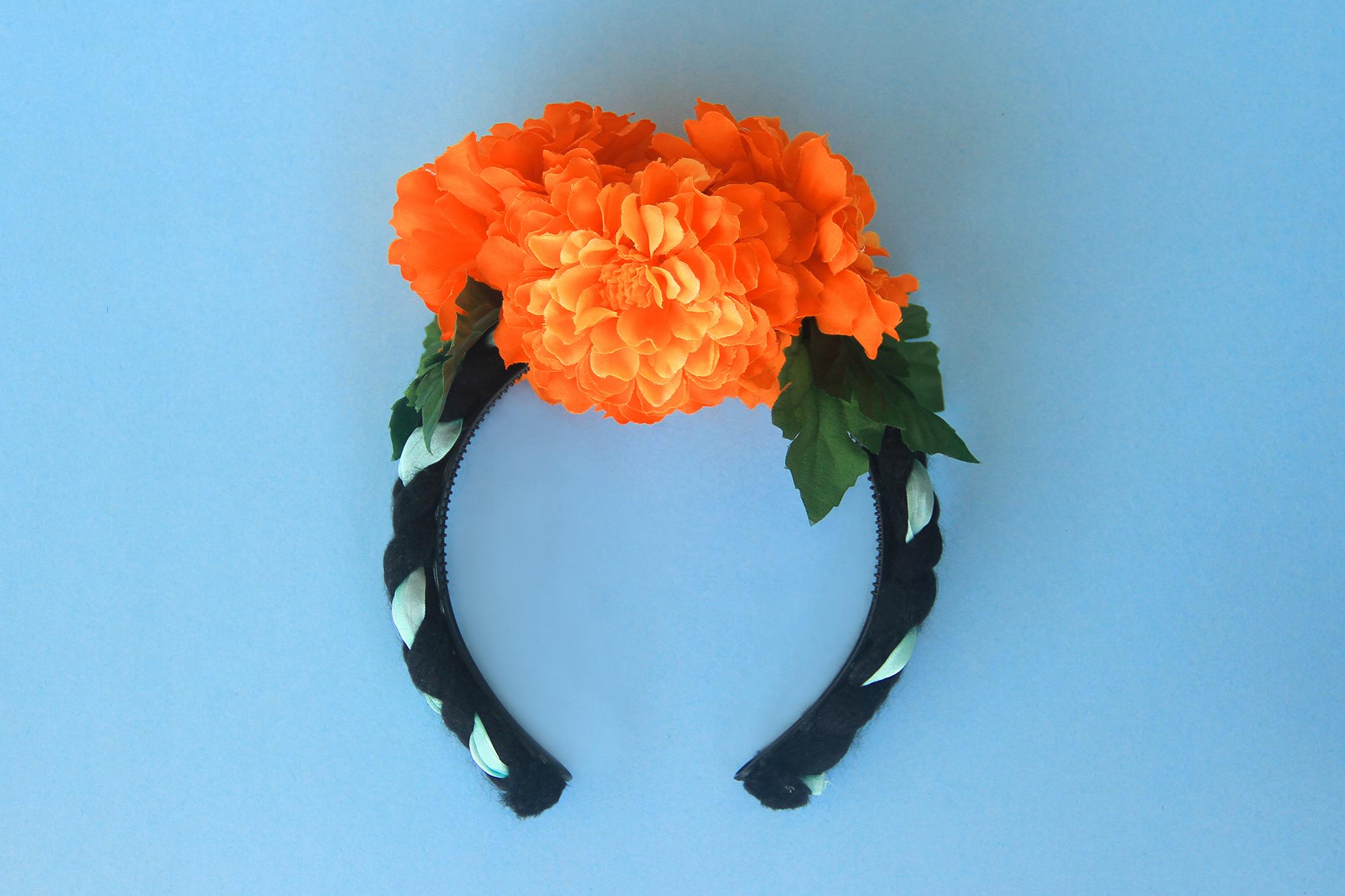 Frida kahlo inspired flower headband marigold headband flower frida kahlo inspired flower headband marigold headband flower crown izmirmasajfo