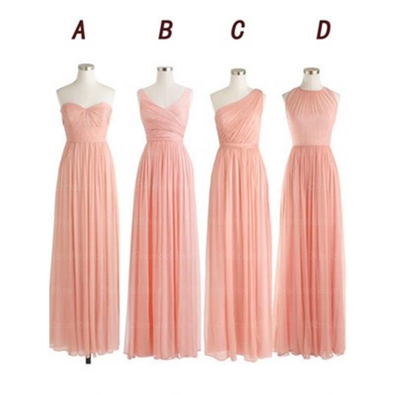 long bridesmaid dresses, mismatched bridesmaid dress, cheap ...
