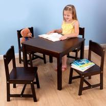 Table & 4 Chair Set - Espresso