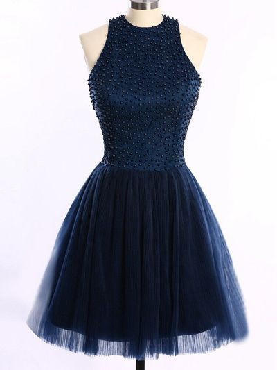 Navy Blue Tulle Homecoming Dresses Cheap Homecoming Dresses Juniors