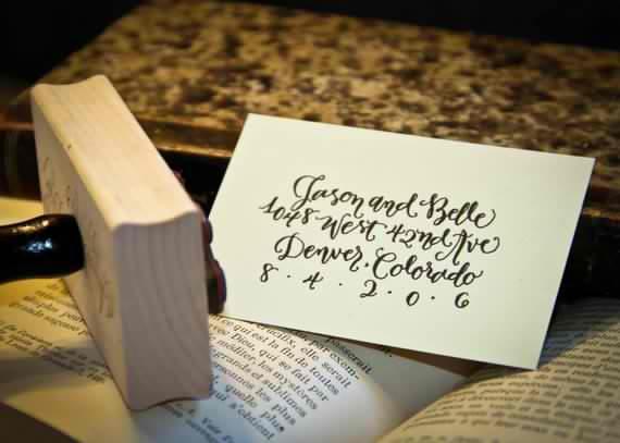 Handwritten Calligraphy Address Stamp Calligraphy Address Stamp