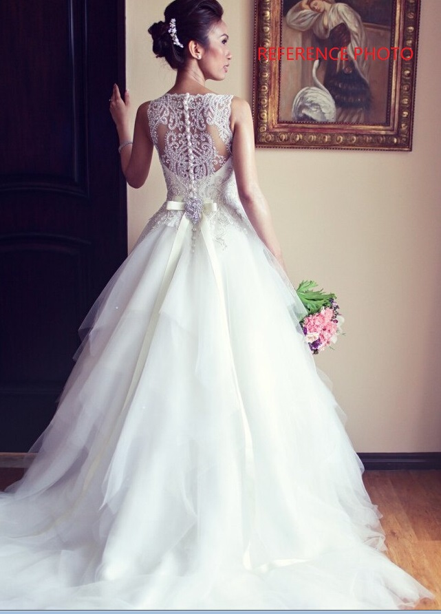 Tulle and Lace Wedding Dress pwd0040 · BBDressing · Online Store ...