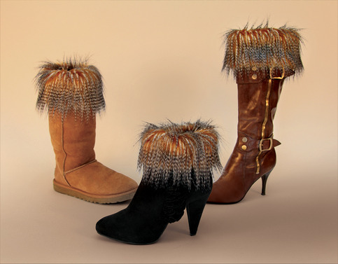 "Porcupine ""Faux Fur"" Boot Topper"