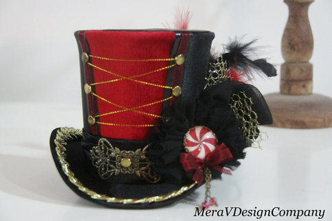 meravdesigncompany women mini top hat carnival circus