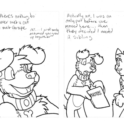 Comic sketch - 1/06/2012 - housepets babies! - who still has a photo album anyway - Thumbnail 4