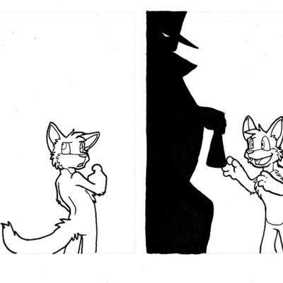 Comic sketch - 1/30/2012 - housepets babies! - stranger danger exchanger - Thumbnail 2