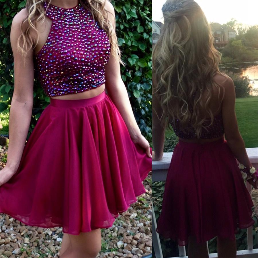 Cute Dresses,Handmade Homecoming Dresses,Homecoming Dress,Two Piece ...