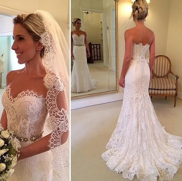 J150 sweetheart long chapel train wedding dresses civil for Dresses for civil wedding