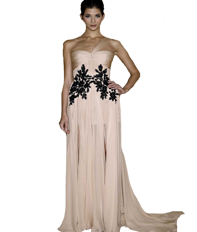 Black lace applique dress