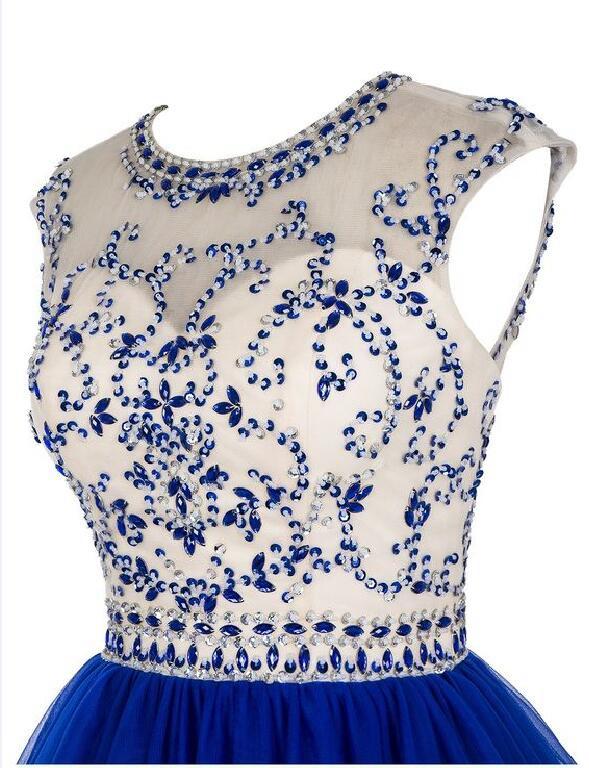 Formal Dress | Maroon short homecoming dress,royal blue beading prom ...
