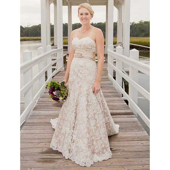Champagne Trumpet Gown