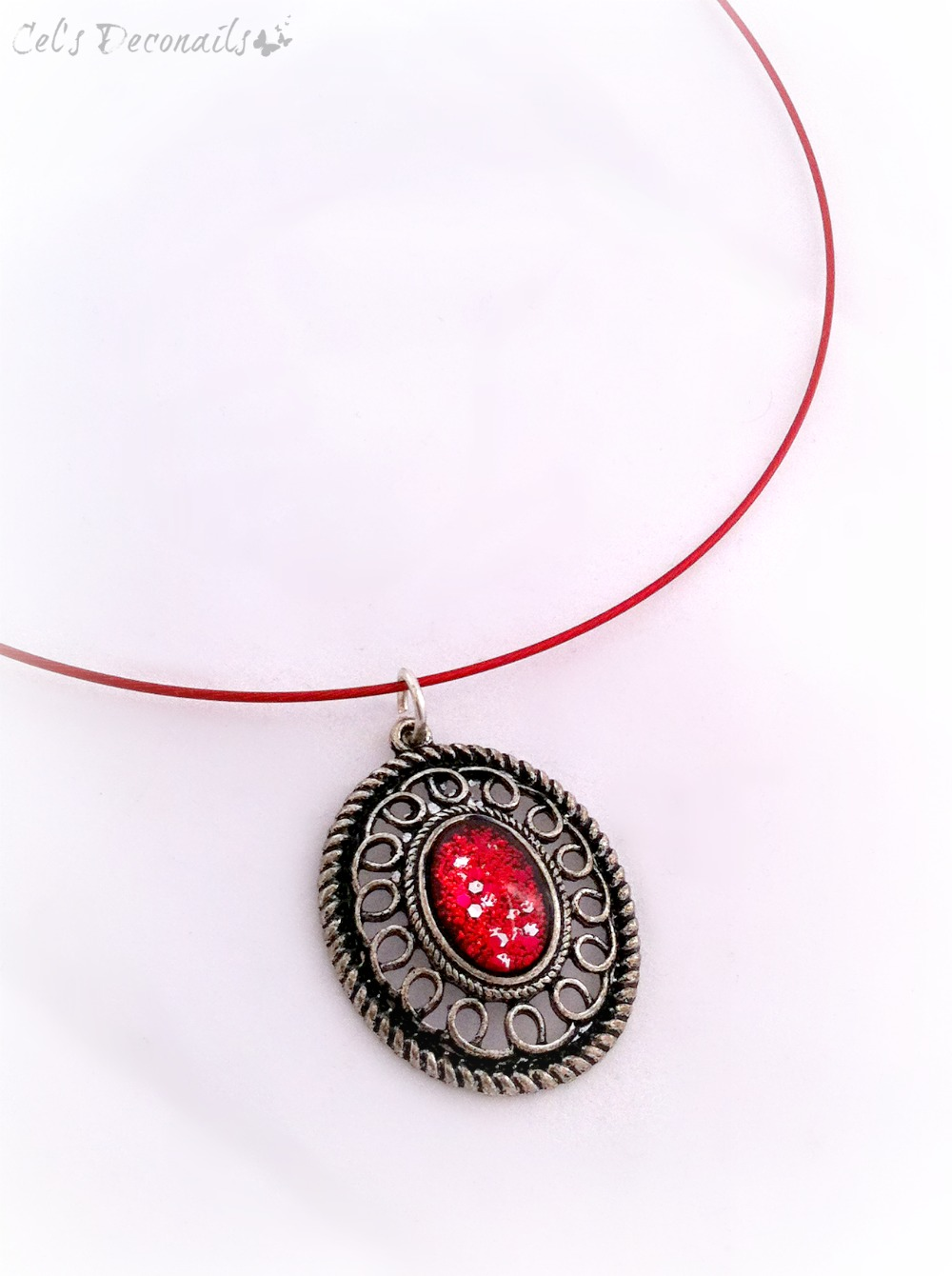 Red glitter victorian gothic pendant necklace celdeconail online red glitter victorian gothic pendant necklace thumbnail 2 aloadofball Gallery