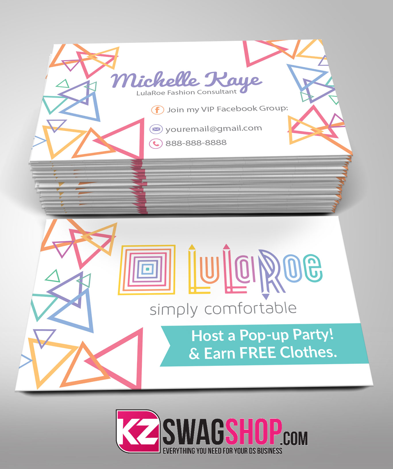 LulaRoe Business Cards 4 · KZ Creative Services · line Store