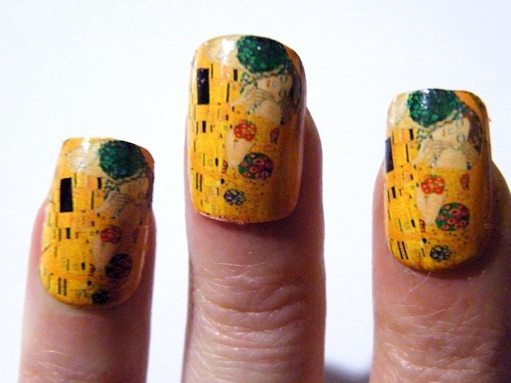 Klimt The Kiss Nail Polish Art Nails Art History Painting Mani Pedi ...