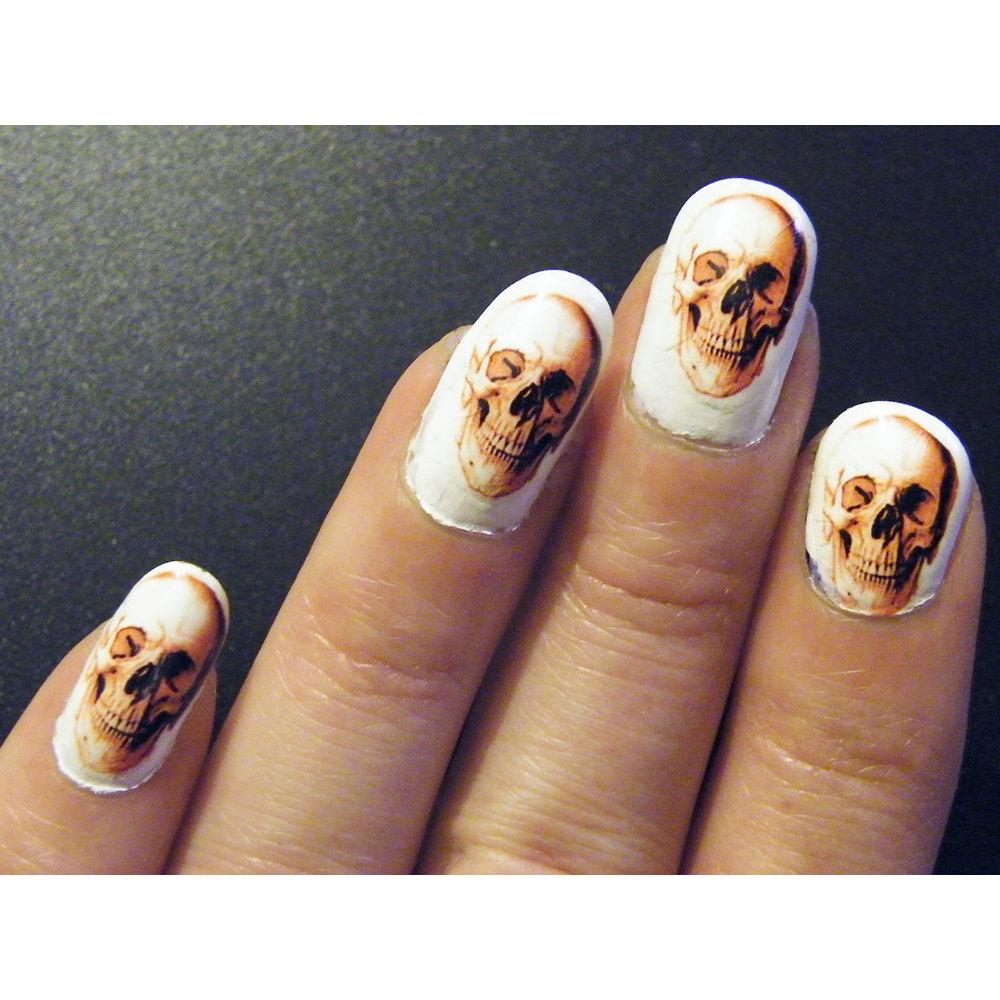 Skull Steampunk Gothic Nail Art Nails Men or Women Manicure Skeleton ...