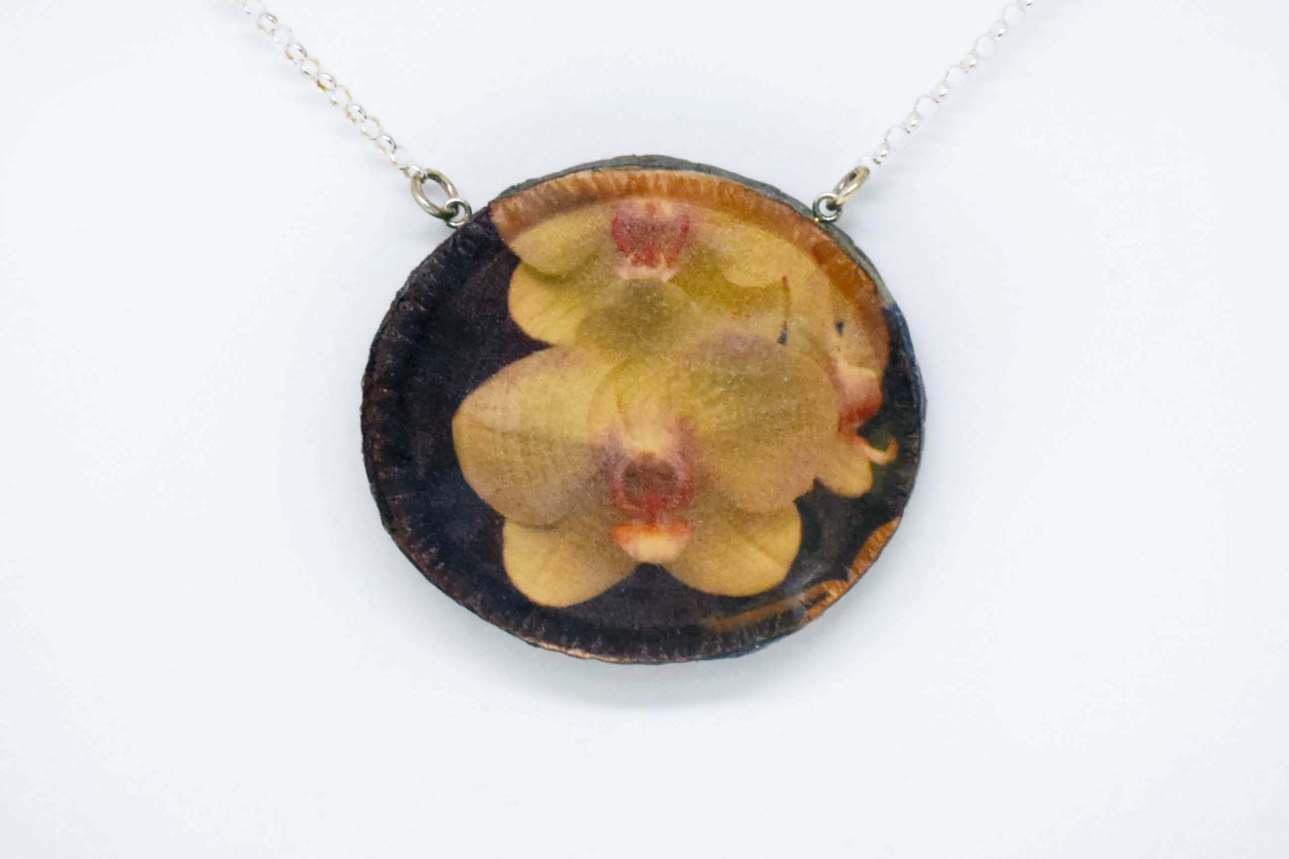 White orchid pendant bk crafts online store powered by storenvy white orchid pendant aloadofball Choice Image