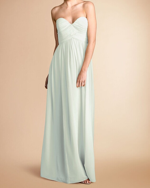 A194 Mint Sweetheart Long Chiffon Bridesmaid Dress, Long Prom ...