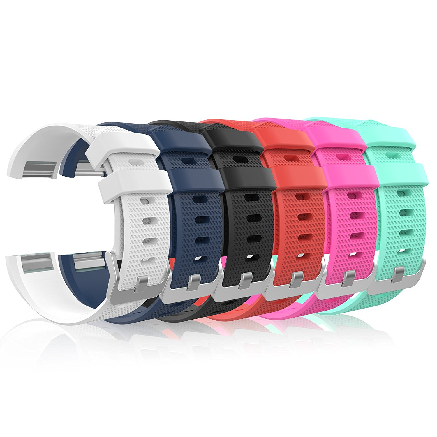 Soft silicone adjustable replacement sport strap band for fitbit