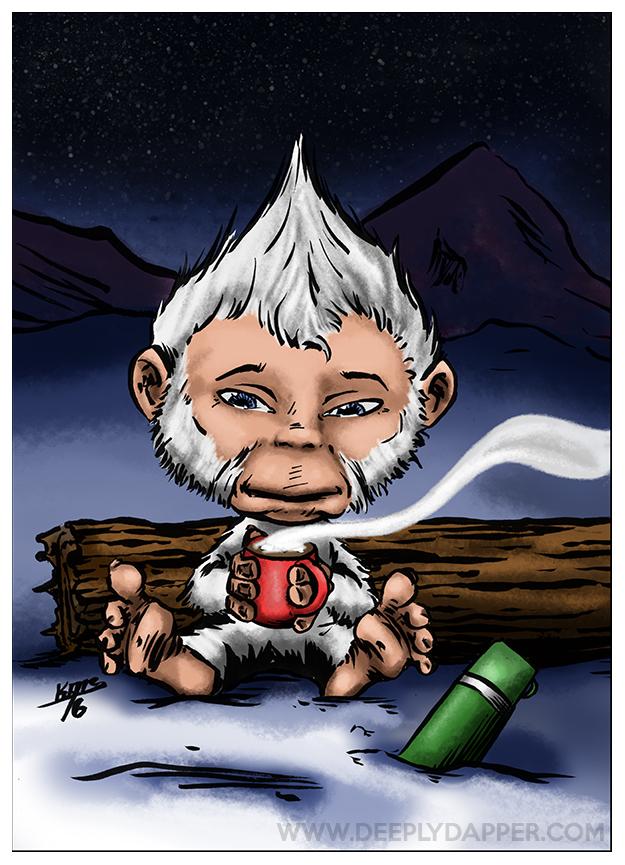 Yeti DapperKins Holiday Card - Krampus and Cthulhu\'s Christmas ...