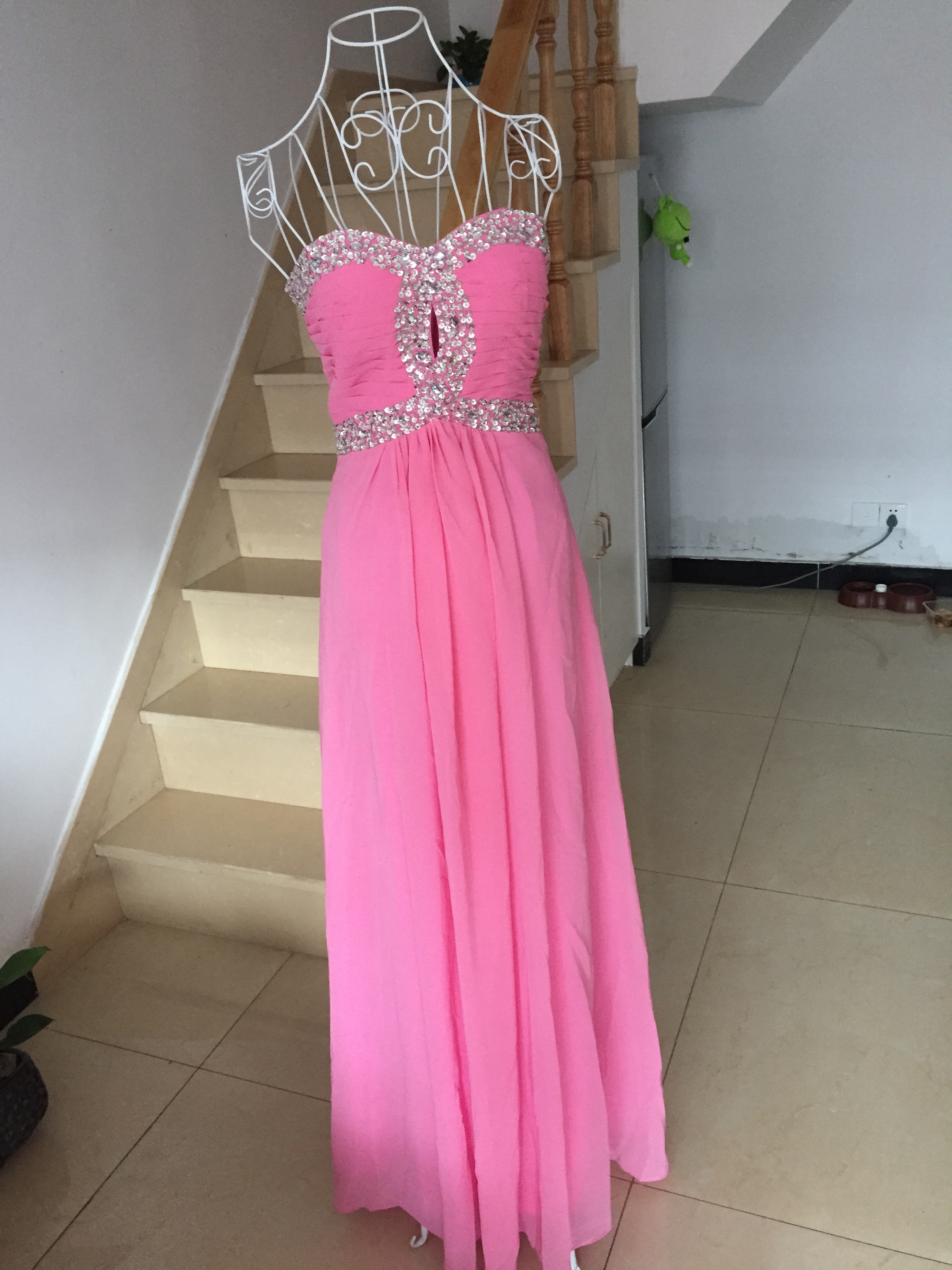 A401 Real Made Simple Bridesmaid Dresses, Sweetheart Beaded Peach ...