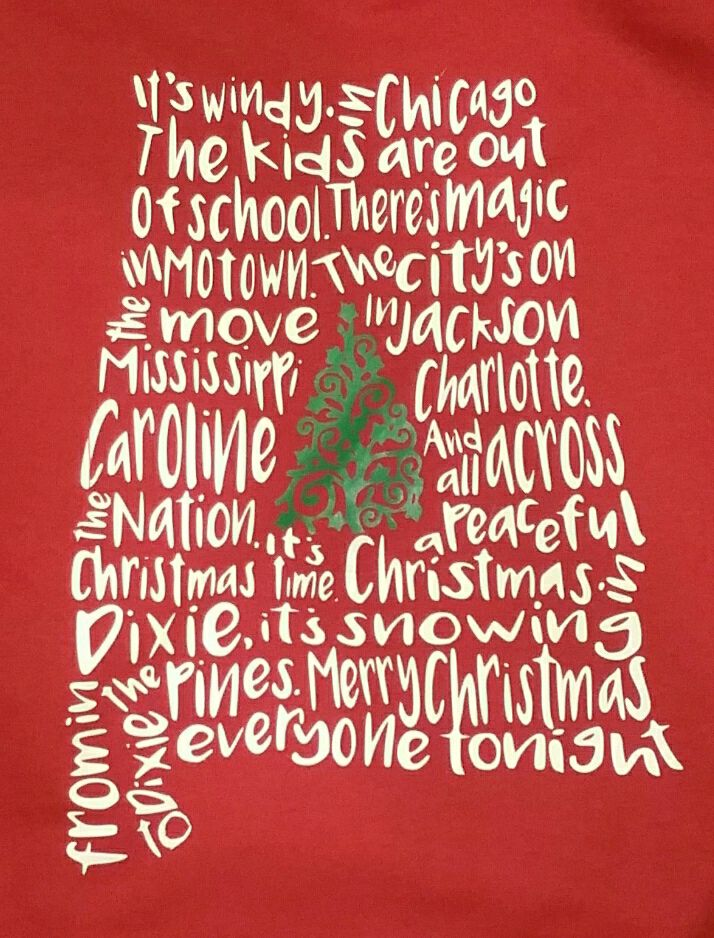 christmas in dixie shirt long sleeve tee or sweatshirt available small chest monogram on - Christmas In Dixie