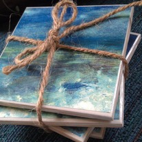 Blue Ocean Coasters, Set of 4