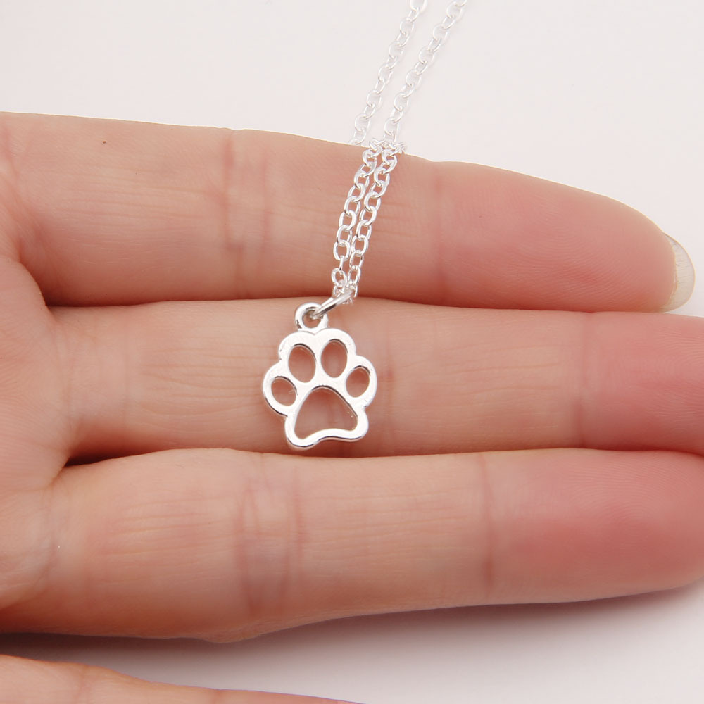 shaped necklace pawprint alexander print products pets gold disc paw sophia fingerprint