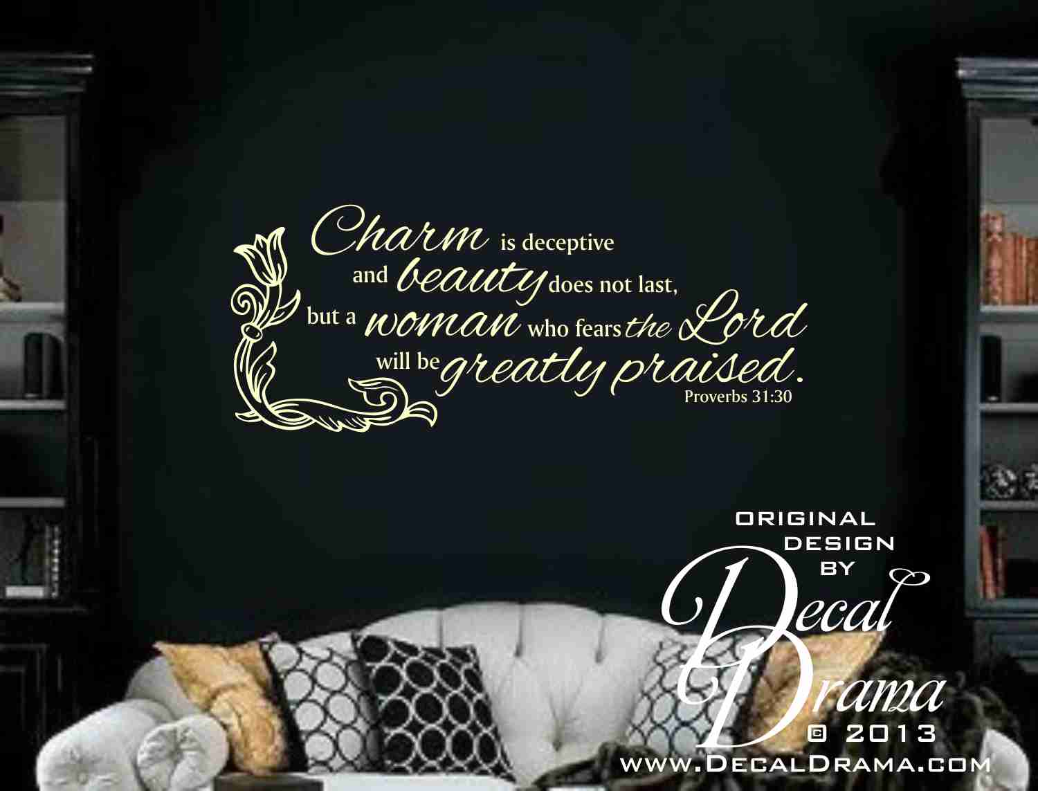 Decal Drama 183 Charm Is Deceptive And Beauty But A Woman