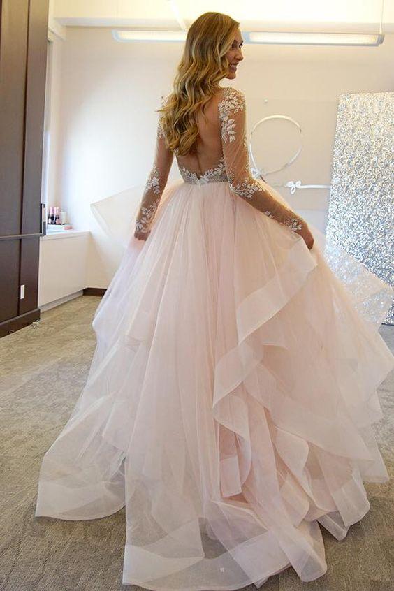 WD61 Ball Gown Long Sleeve Wedding Dresses,Wedding Dress,Custom Made ...