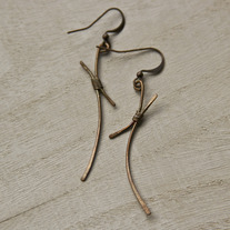 Tied Together Copper Earrings