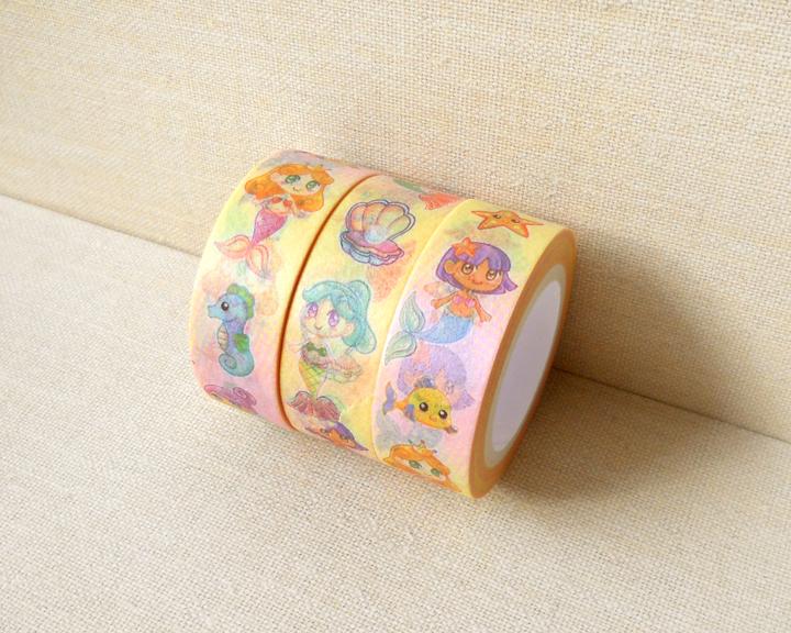 Mermaid washi tape planner decoration kawaii washi tape for Decoration tape