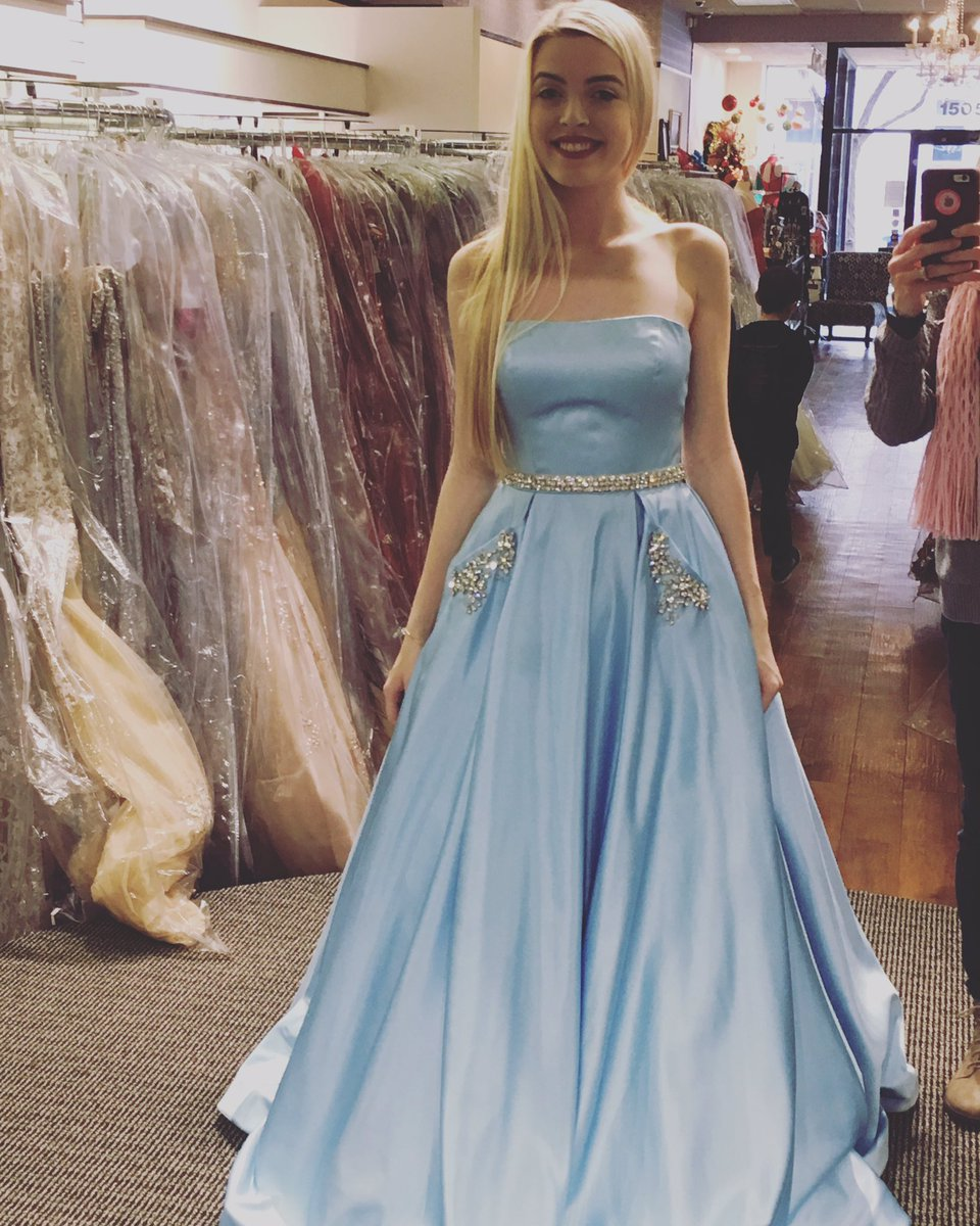 Blue light prom dresses exclusive photo