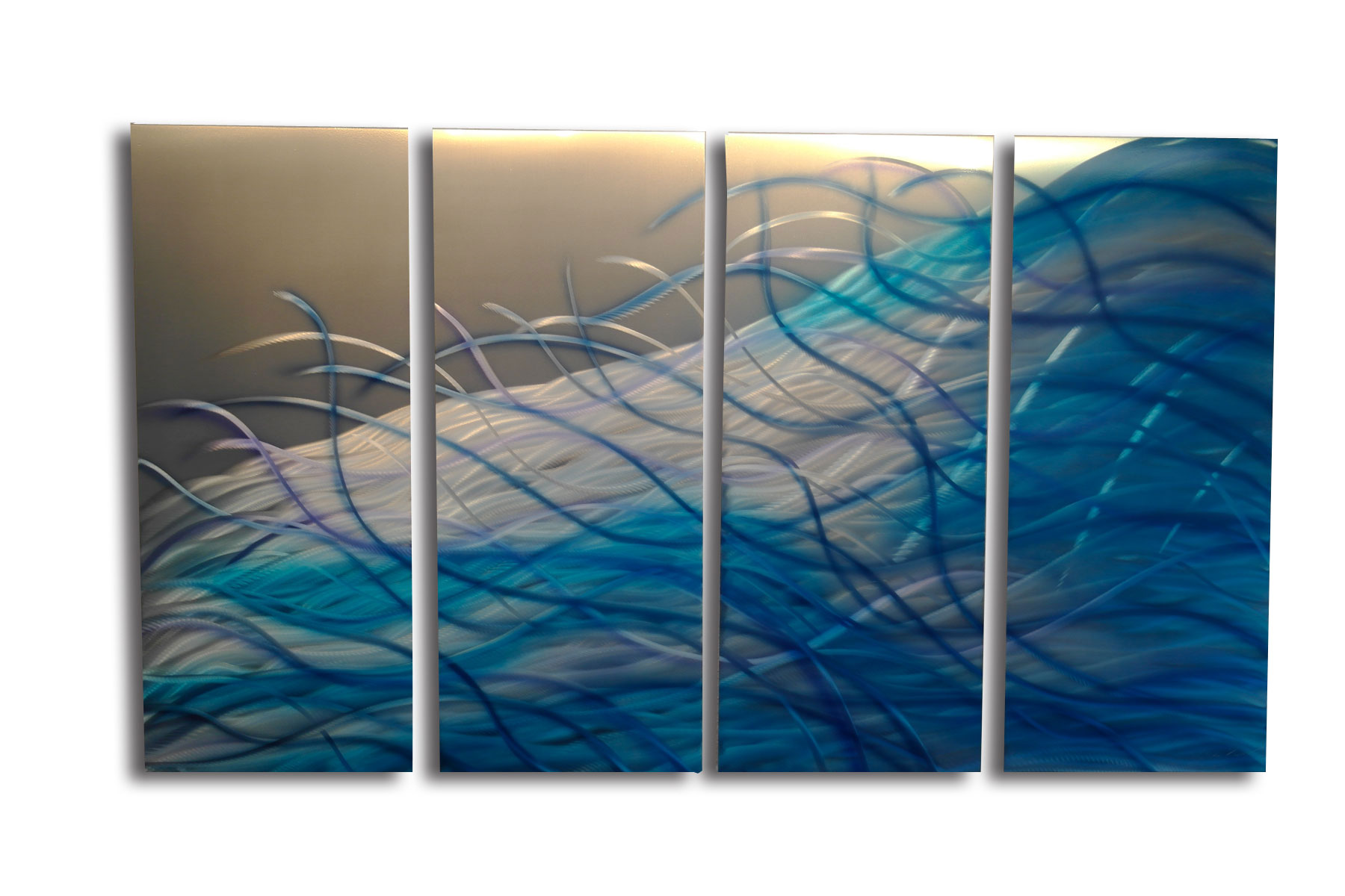 Blue Metal Wall Decor Glamorous Resonance Blue 36  Abstract Metal Wall Art Contemporary Modern Inspiration