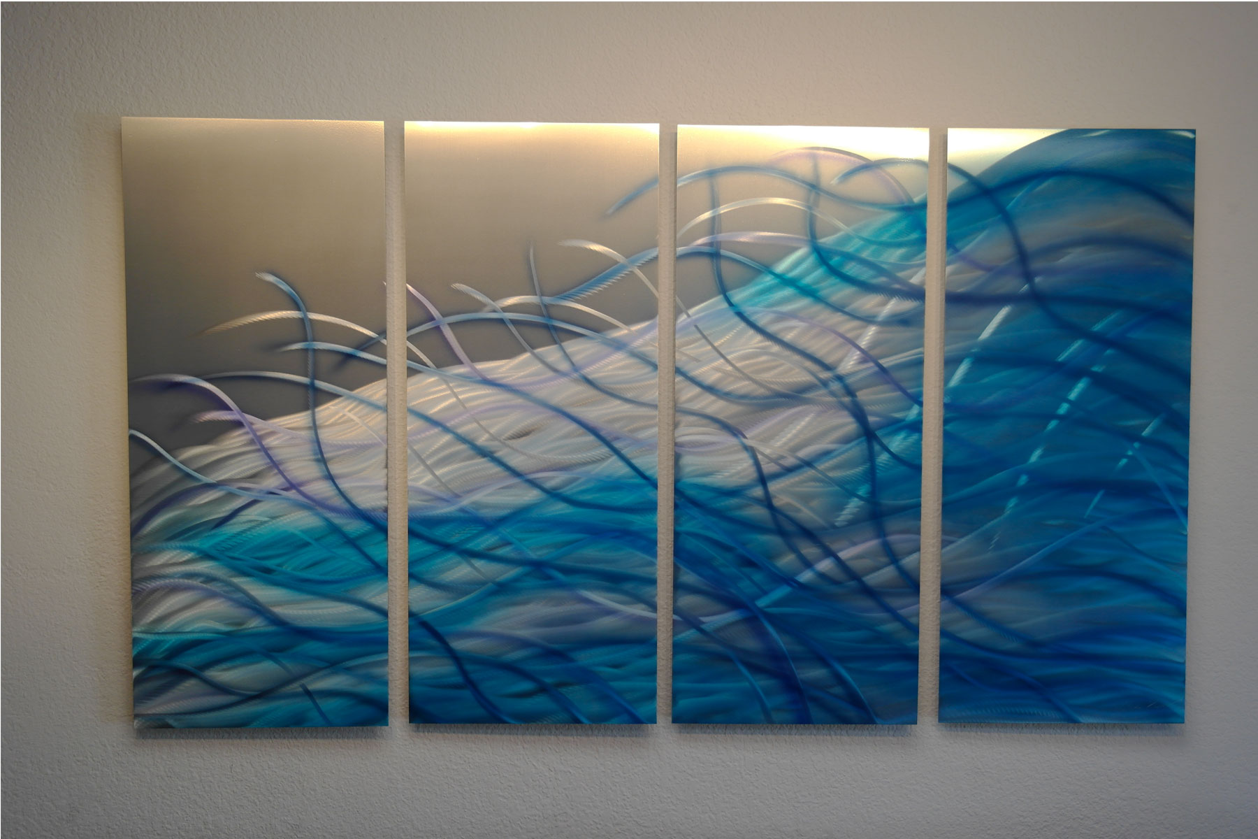 Blue Metal Wall Art Beauteous Resonance Blue 36  Abstract Metal Wall Art Contemporary Modern Inspiration Design