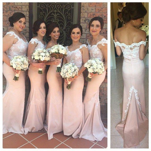 Lace and Pink Bridesmaid Dress