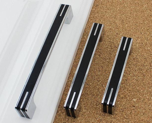 3 75 5 6 3 modern silver black kitchen cabinet door handles