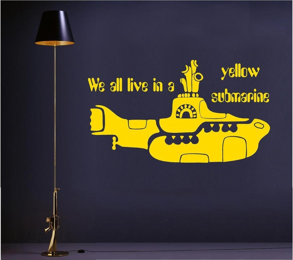 We all live in a yellow submarine ver-2 vinyl wall art decal ...