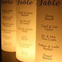 Seating Chart - Escort Table Luminarias - Thumbnail 2