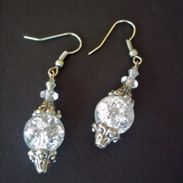 "1"" Clear Crystal earrings"