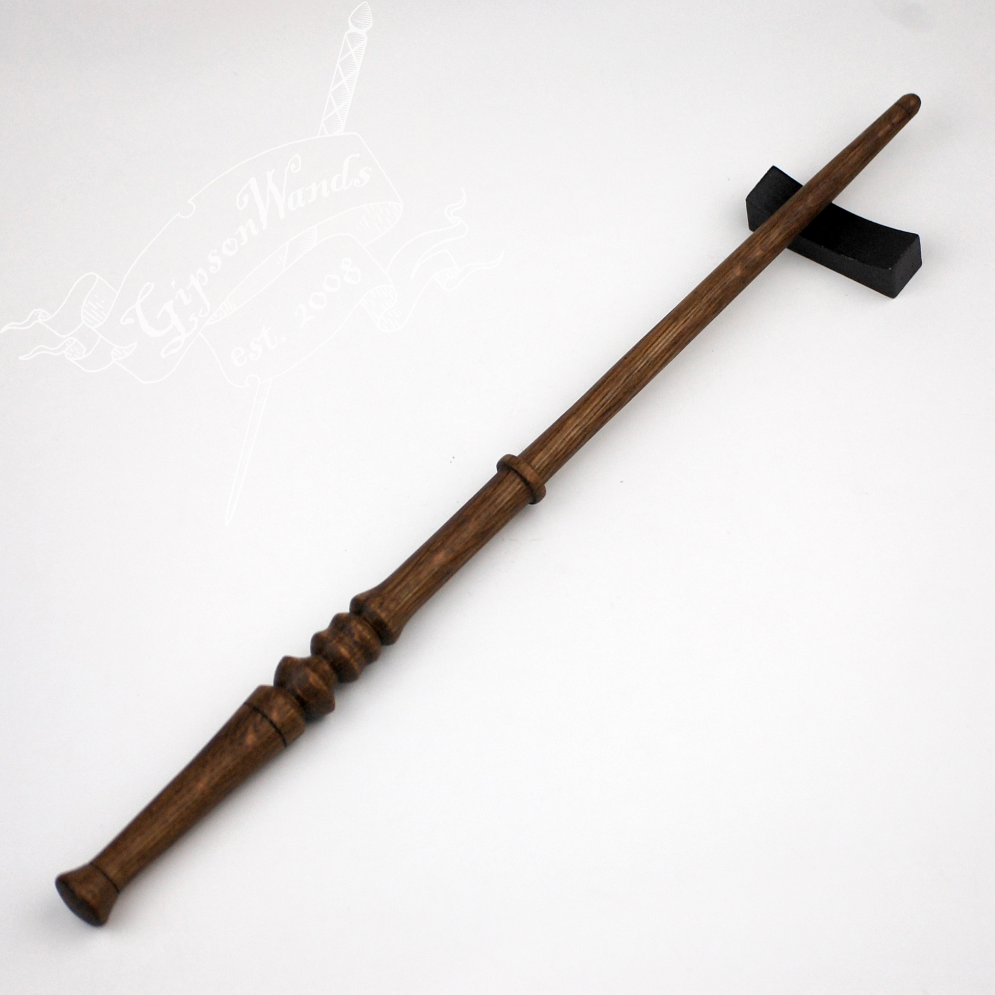 Fumed white oak wand 12 3 4th inch gipsonwands online for 4 wand filmproduktion