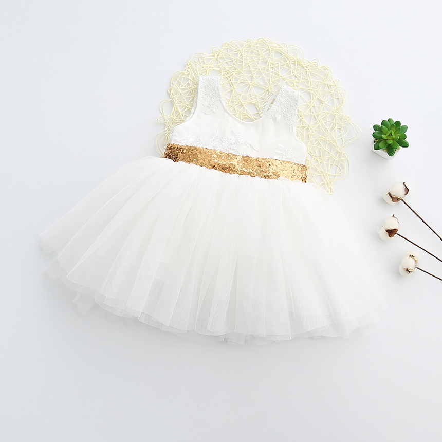 White tutu dress with gold sequined waist trim and big sequined bow white tutu dress with gold sequined waist trim and big sequined bowgold sequined bow mightylinksfo Images