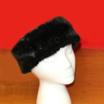 Black Mink Faux Fur Headband