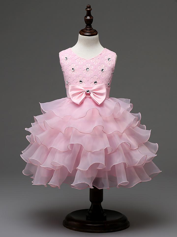 Pink flower girl dress bridesmaid wedding communion pageant party pink flower girl dress bridesmaid wedding communion pageant party graduation dress xcrrc47 mightylinksfo