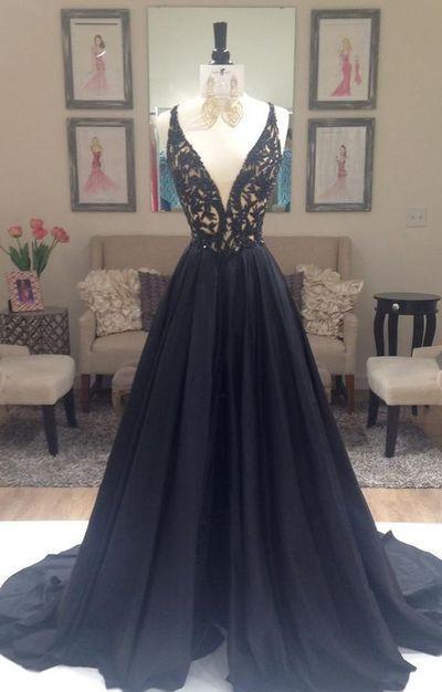 Black Prom Dresscharming Prom Dressa Line Prom Dressevening Prom