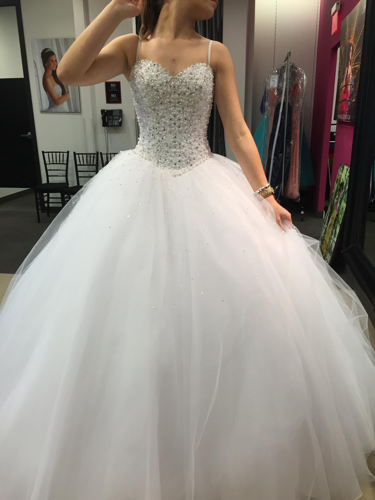 Beaded Tulle Ball Gown Wedding Dress · Onlyforbrides · Online Store ...