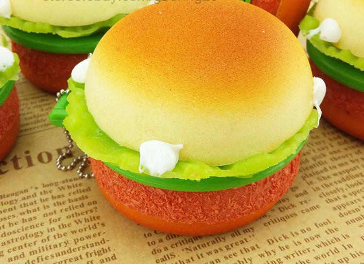 Hamburger Squishy Mirror Charm ? Kawaii Squishy Shop ? Online Store Powered by Storenvy